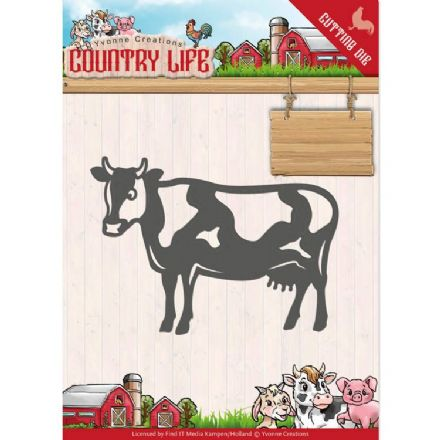 YCD10128 L ~ Cow ~ Country Life ~ Yvonne Creations